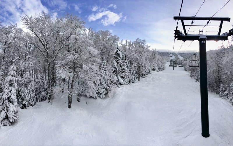 Χιονώδης κλίση στοκ εικόνα με δικαίωμα ελεύθερης χρήσης