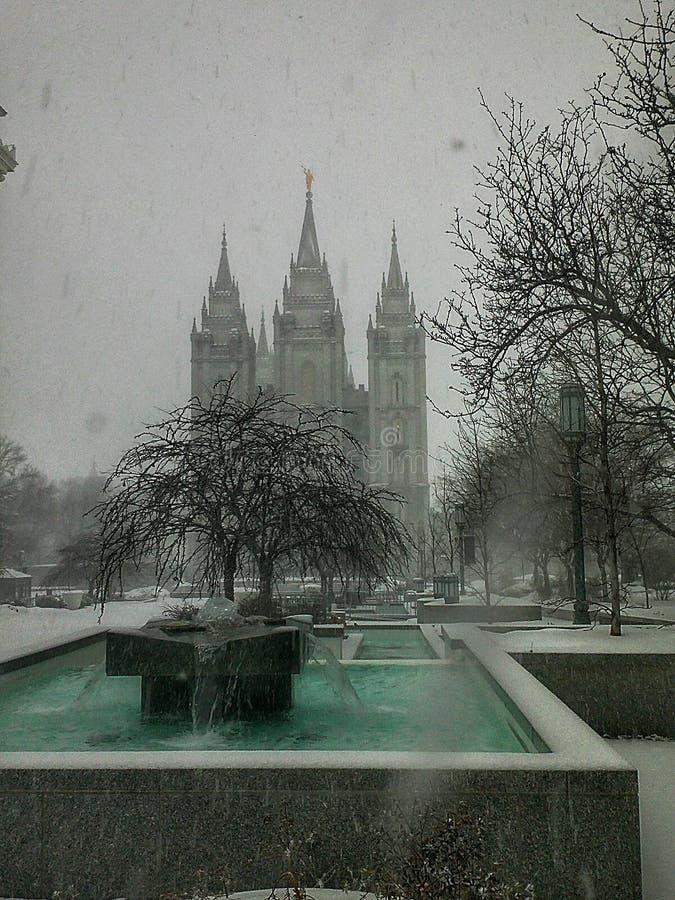 Χιονώδης ναός στοκ φωτογραφία με δικαίωμα ελεύθερης χρήσης