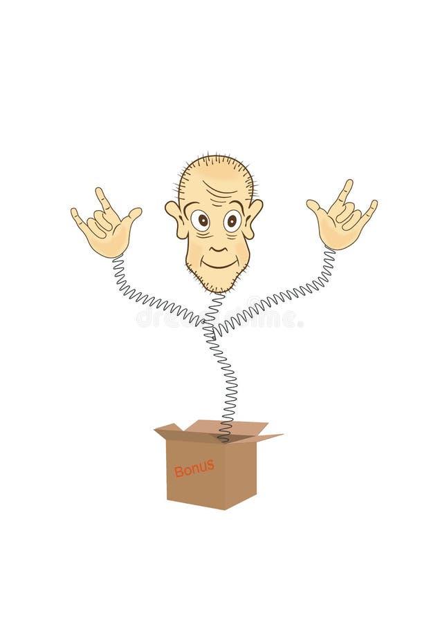 Χιουμοριστικό ειδώλιο του κιβωτίου διανυσματική απεικόνιση