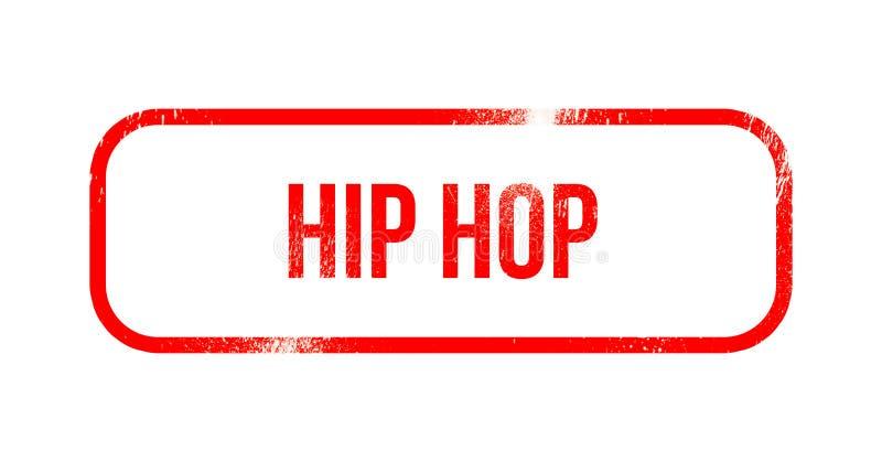 Χιπ χοπ - κόκκινο λάστιχο grunge, γραμματόσημο διανυσματική απεικόνιση