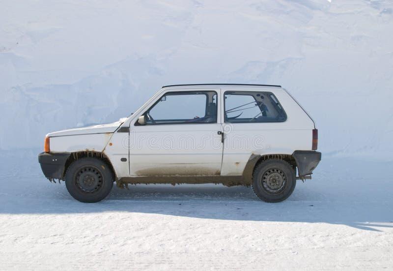χιόνι αυτοκινήτων στοκ εικόνες