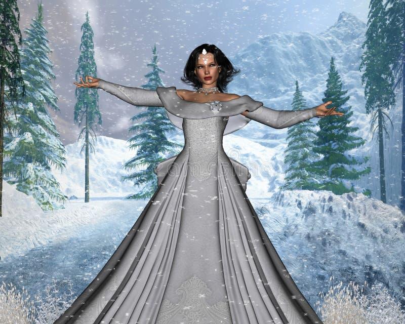χιόνι βασίλισσας διανυσματική απεικόνιση