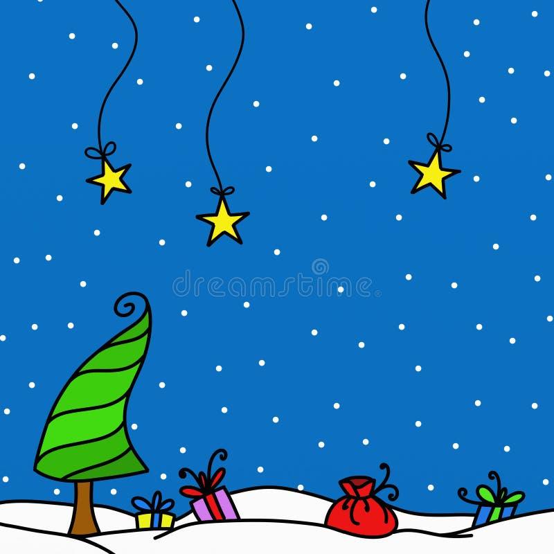 χιόνι δώρων διανυσματική απεικόνιση