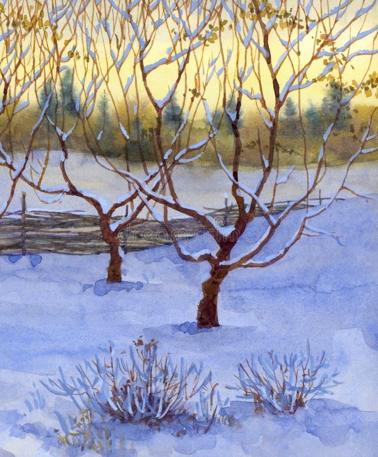 χιόνι κήπων διανυσματική απεικόνιση