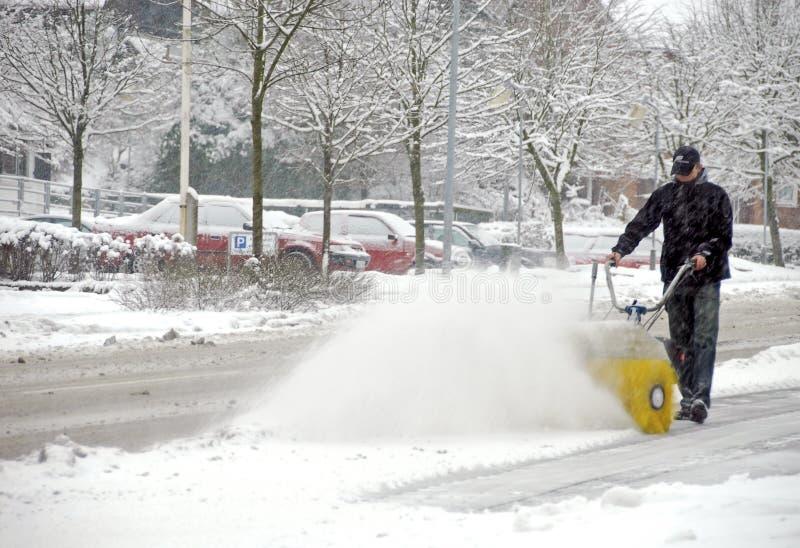 χιόνι καθαρίσματος στοκ εικόνες