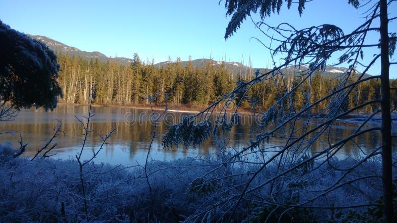 Χιόνι και λίμνη στοκ φωτογραφία με δικαίωμα ελεύθερης χρήσης