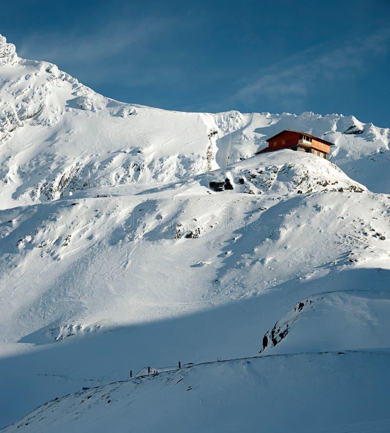 χιόνι καμπινών στοκ εικόνα με δικαίωμα ελεύθερης χρήσης