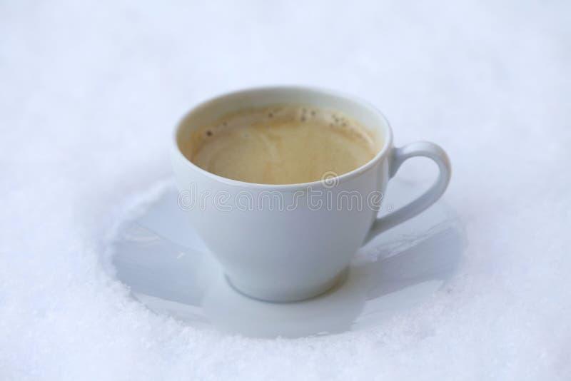 χιόνι καφέ στοκ εικόνες