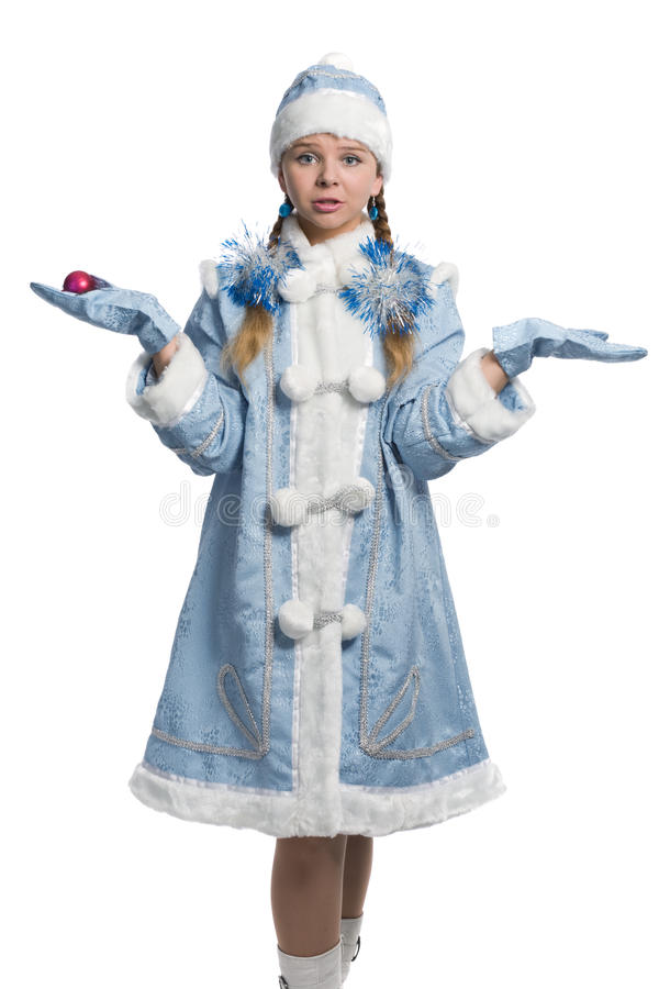 χιόνι κοριτσιών στοκ φωτογραφία