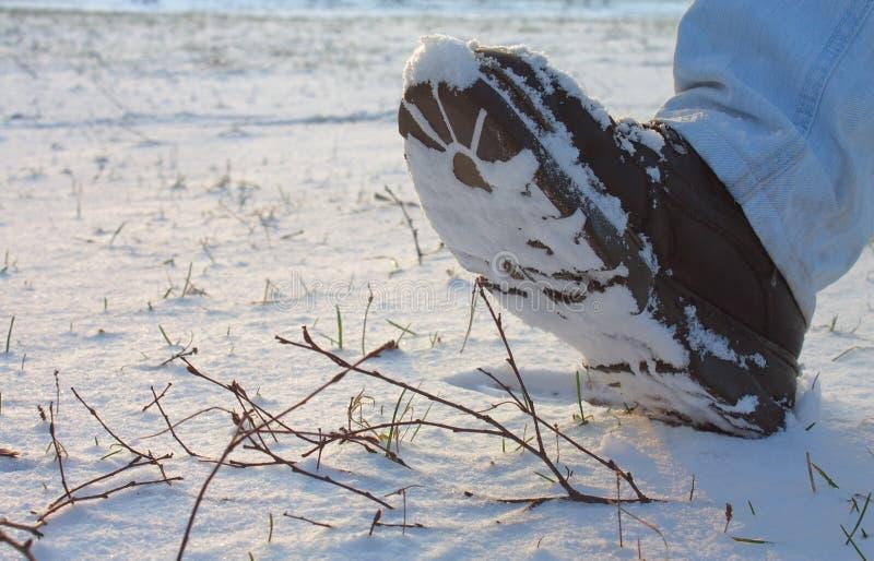 Download χιόνι μποτών στοκ εικόνες. εικόνα από πρόσωπο, ανθρώπινος - 22799520