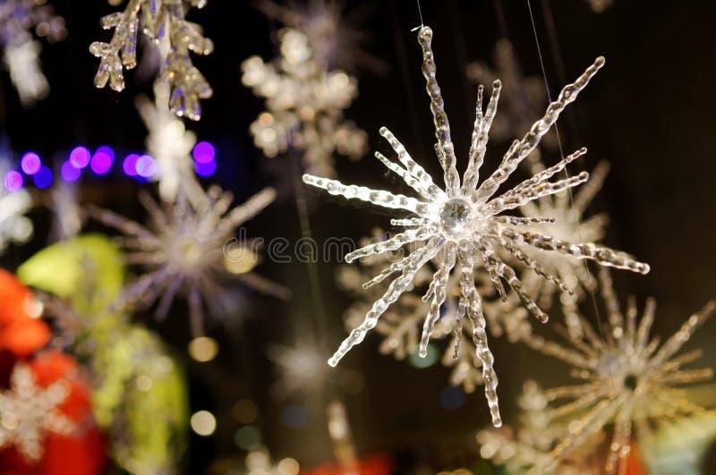 χιόνι νιφάδων cystals στοκ εικόνες
