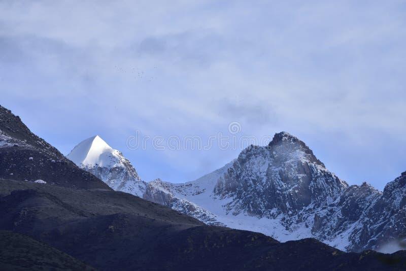 Χιόνι-ολοκληρωμένες αιχμές βουνών στοκ φωτογραφίες