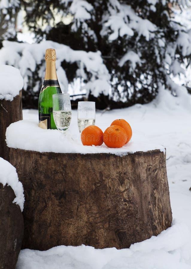 χιόνι πορτοκαλιών γυαλιώ&nu στοκ εικόνες
