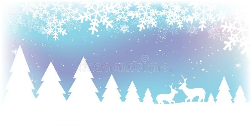 χιόνι σκηνής Χριστουγέννων Στοκ Εικόνα