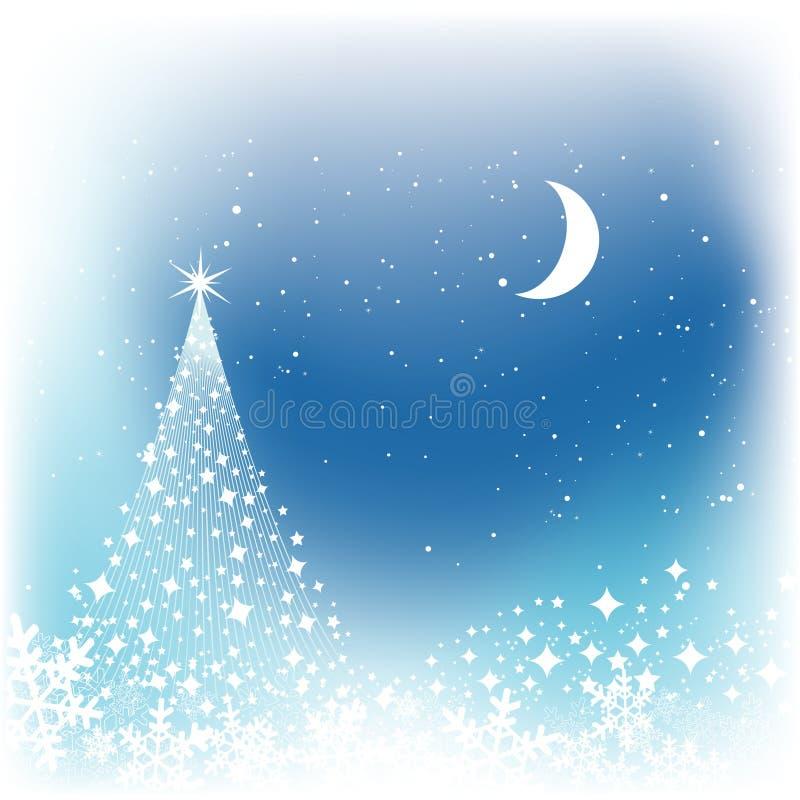 χιόνι σκηνής Χριστουγέννων διανυσματική απεικόνιση