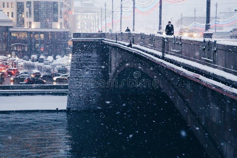 Χιόνι στη Μόσχα στοκ φωτογραφία με δικαίωμα ελεύθερης χρήσης