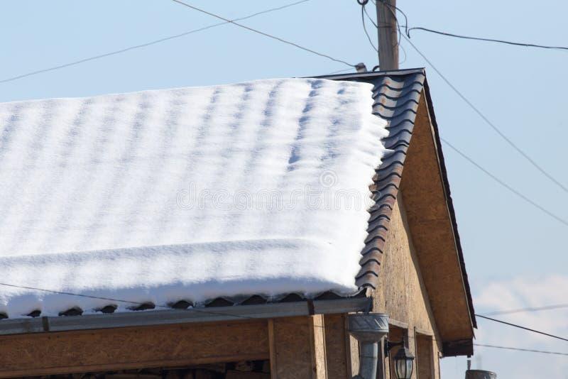Χιόνι στη στέγη στοκ εικόνες με δικαίωμα ελεύθερης χρήσης