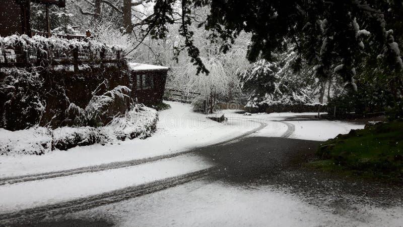 Χιόνι στις λίμνες στοκ φωτογραφία με δικαίωμα ελεύθερης χρήσης