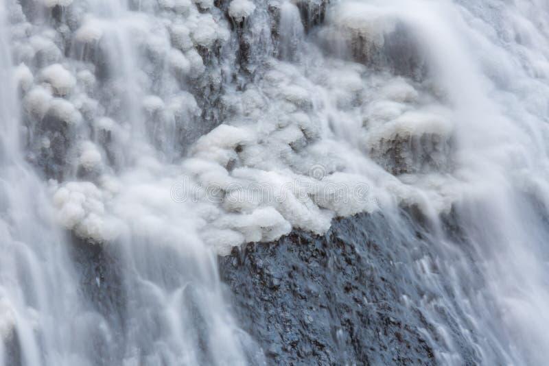 Χιόνι στις πτώσεις Fukuroda στοκ φωτογραφία με δικαίωμα ελεύθερης χρήσης