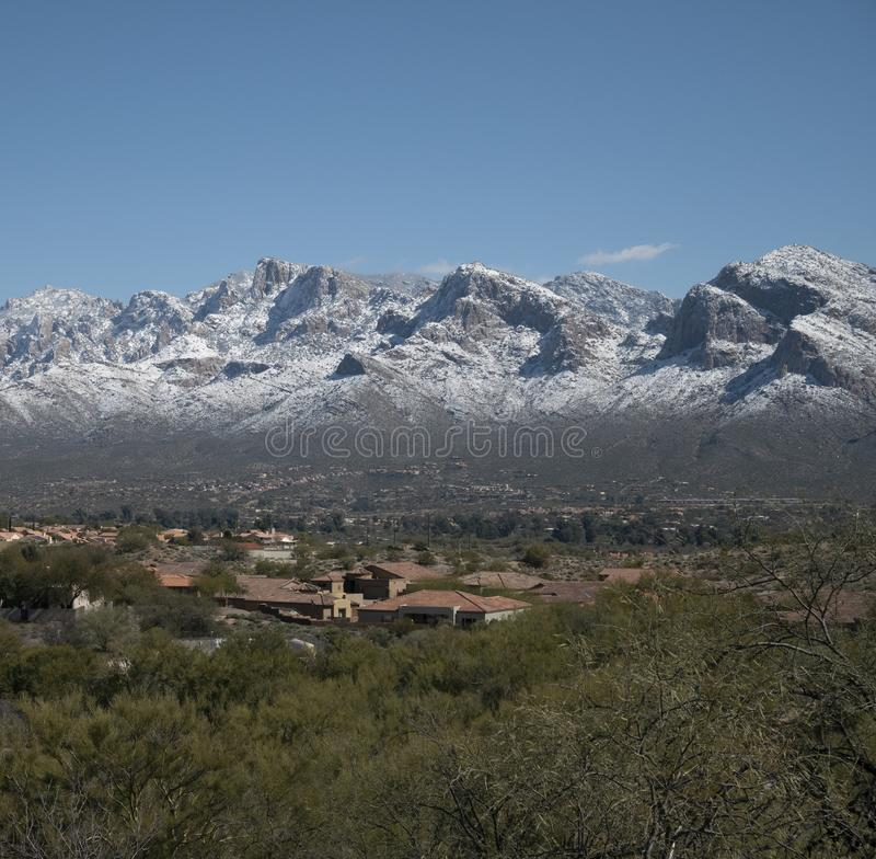 Χιόνι στο Santa Catalina Mountains στοκ φωτογραφία με δικαίωμα ελεύθερης χρήσης