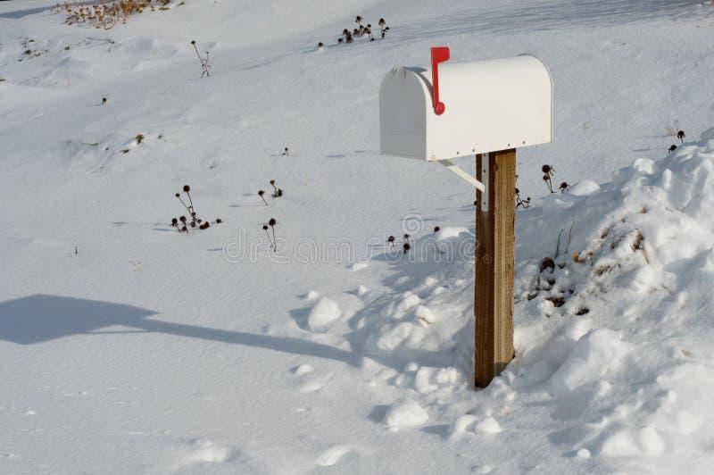 χιόνι ταχυδρομικών θυρίδω& στοκ εικόνες με δικαίωμα ελεύθερης χρήσης