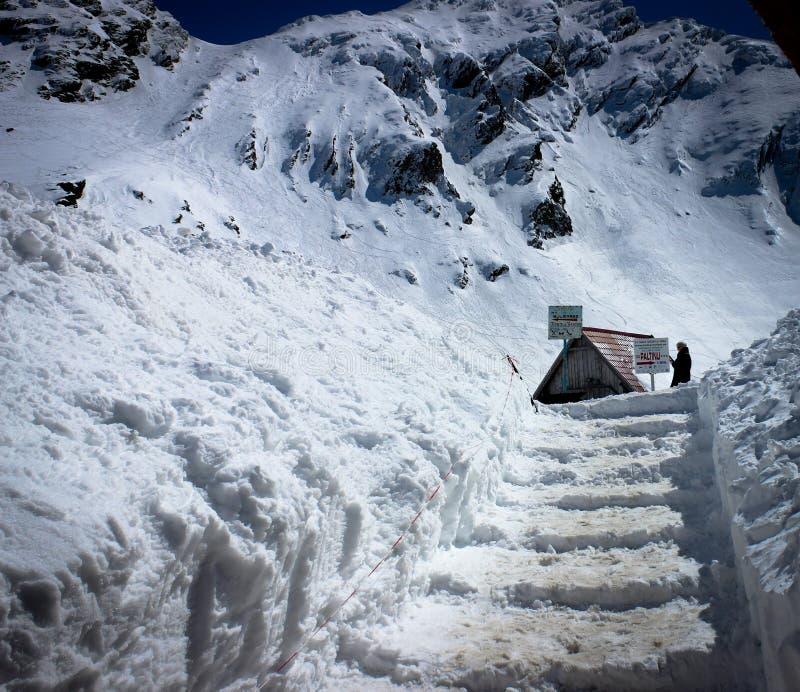 Χιόνι τον Απρίλιο στοκ φωτογραφίες