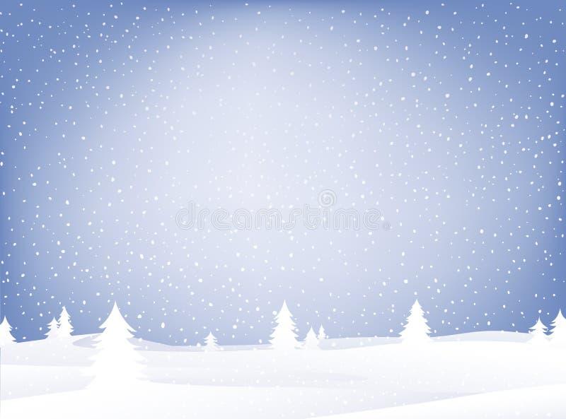 χιόνι τοπίων διανυσματική απεικόνιση