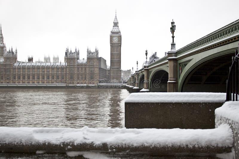 χιόνι του Λονδίνου στοκ φωτογραφίες με δικαίωμα ελεύθερης χρήσης