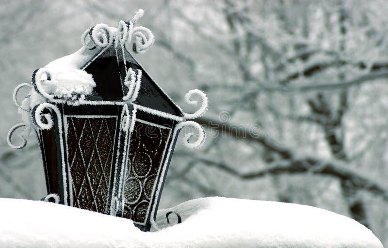 χιόνι φαναριών στοκ φωτογραφίες με δικαίωμα ελεύθερης χρήσης