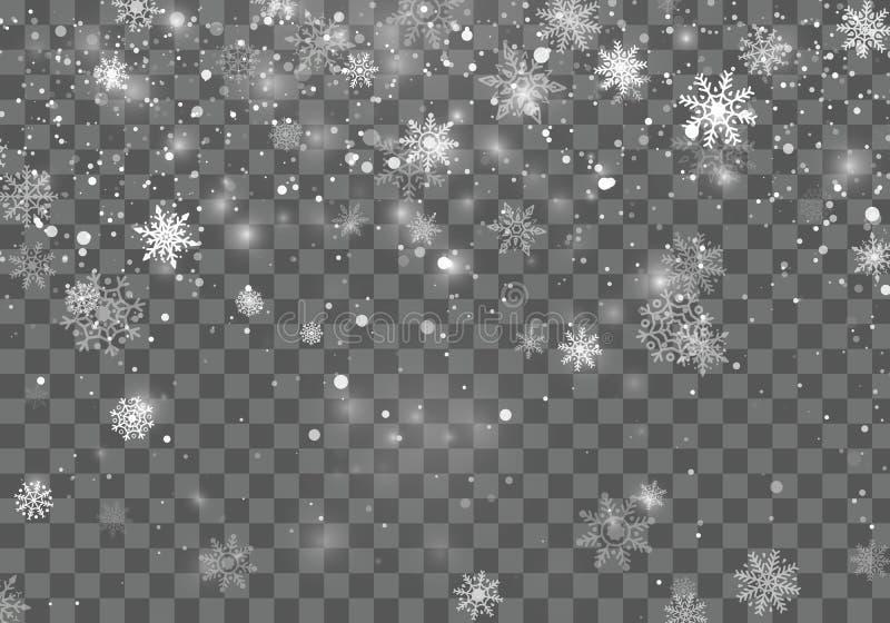 χιόνι Χριστουγέννων Υπόβαθρο Χριστουγέννων με μειωμένα snowflakes Υπόβαθρο χειμερινών διακοπών επίσης corel σύρετε το διάνυσμα απ διανυσματική απεικόνιση