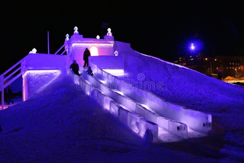 Χιόνι sastle το νότιο λιμάνι σε LuleÃ¥ στοκ φωτογραφίες με δικαίωμα ελεύθερης χρήσης