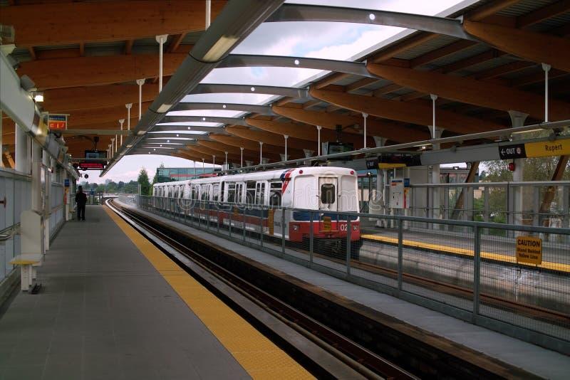 Χιλιετία Skytrain, Βανκούβερ, Καναδάς στοκ φωτογραφίες με δικαίωμα ελεύθερης χρήσης