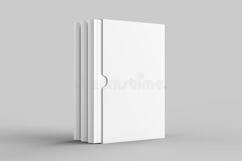 Χλεύη βιβλίων Slipcase που απομονώνεται επάνω στο μαλακό γκρίζο υπόβαθρο τρισδιάστατο illus ελεύθερη απεικόνιση δικαιώματος