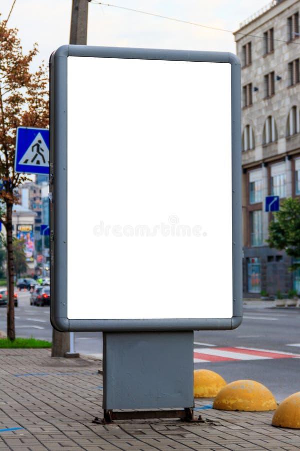Χλεύη επάνω του ελαφριού κιβωτίου στην οδό της μητροπολιτικής πόλης για τη διαφήμισή σας κενό διάστημα αντιγράφων πιν στοκ εικόνες με δικαίωμα ελεύθερης χρήσης