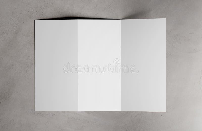 Χλεύη φυλλάδιων Trifold επάνω - τρισδιάστατη απόδοση ελεύθερη απεικόνιση δικαιώματος