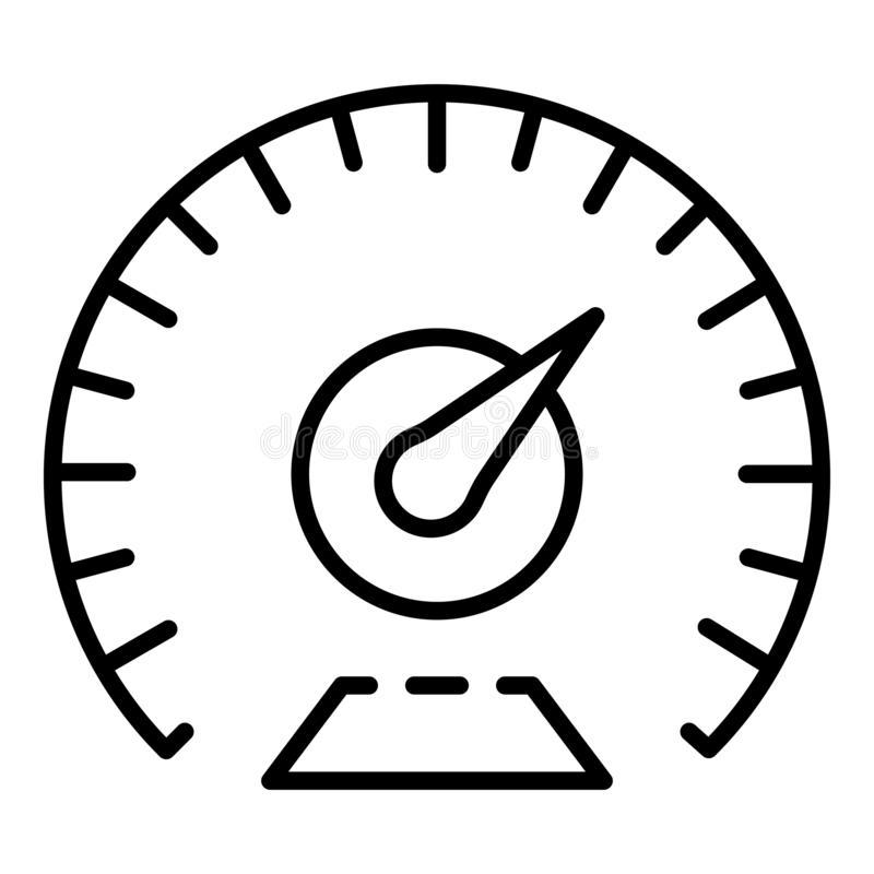 Χλμ ανά εικονίδιο ταχυμέτρων ώρας, ύφος περιλήψεων απεικόνιση αποθεμάτων