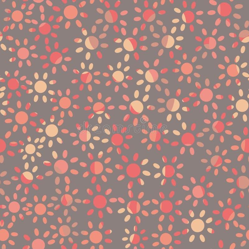 Χλωμό πορφυρό άνευ ραφής διανυσματικό σχέδιο με τις απλές ρόδινες μαρ διανυσματική απεικόνιση