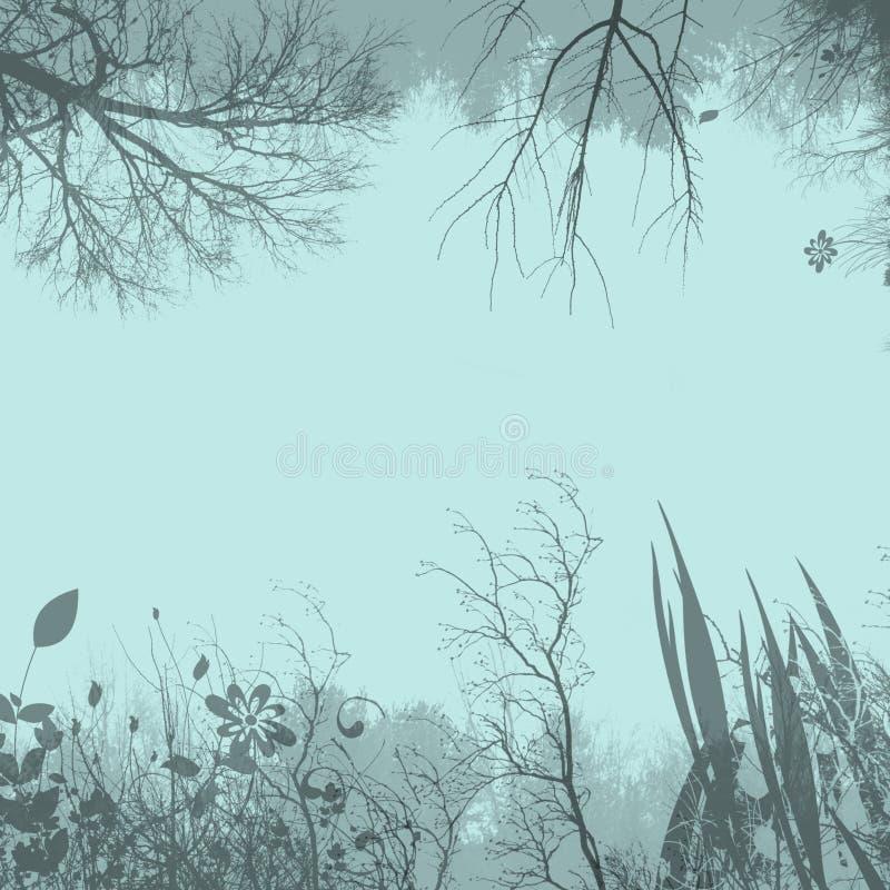χλωρίδα ανασκόπησης διανυσματική απεικόνιση