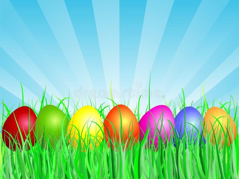 χλόη αυγών Πάσχας ελεύθερη απεικόνιση δικαιώματος