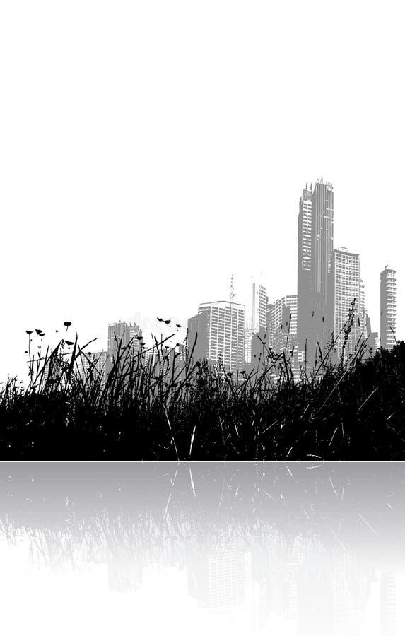 χλόη πόλεων που απεικονίζ ελεύθερη απεικόνιση δικαιώματος
