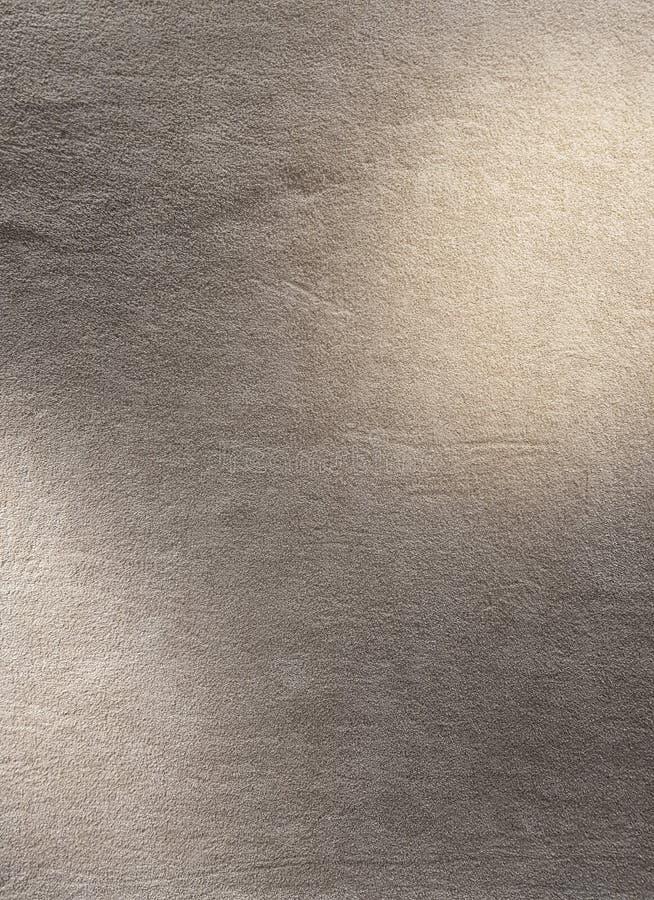 Χνουδωτή σύσταση ταπήτων στο γκρίζο χρώμα με το φως σημείων για να βάλει τη γραφική/σύσταση υποβάθρου/το εσωτερικό σχέδιο στοκ εικόνα με δικαίωμα ελεύθερης χρήσης