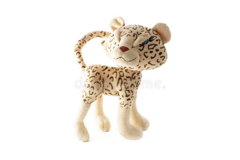 χνουδωτό leopard παιχνίδι στοκ εικόνες με δικαίωμα ελεύθερης χρήσης