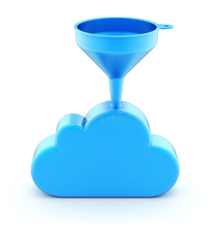 Χοάνη στο σύννεφο διανυσματική απεικόνιση