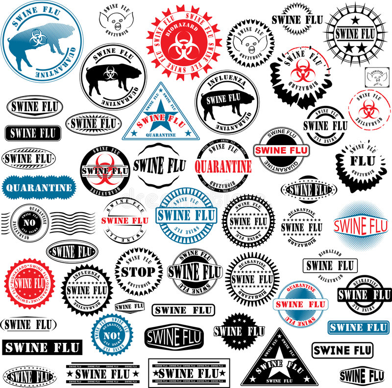 χοίροι γραμματοσήμων γρίπης ruber ελεύθερη απεικόνιση δικαιώματος