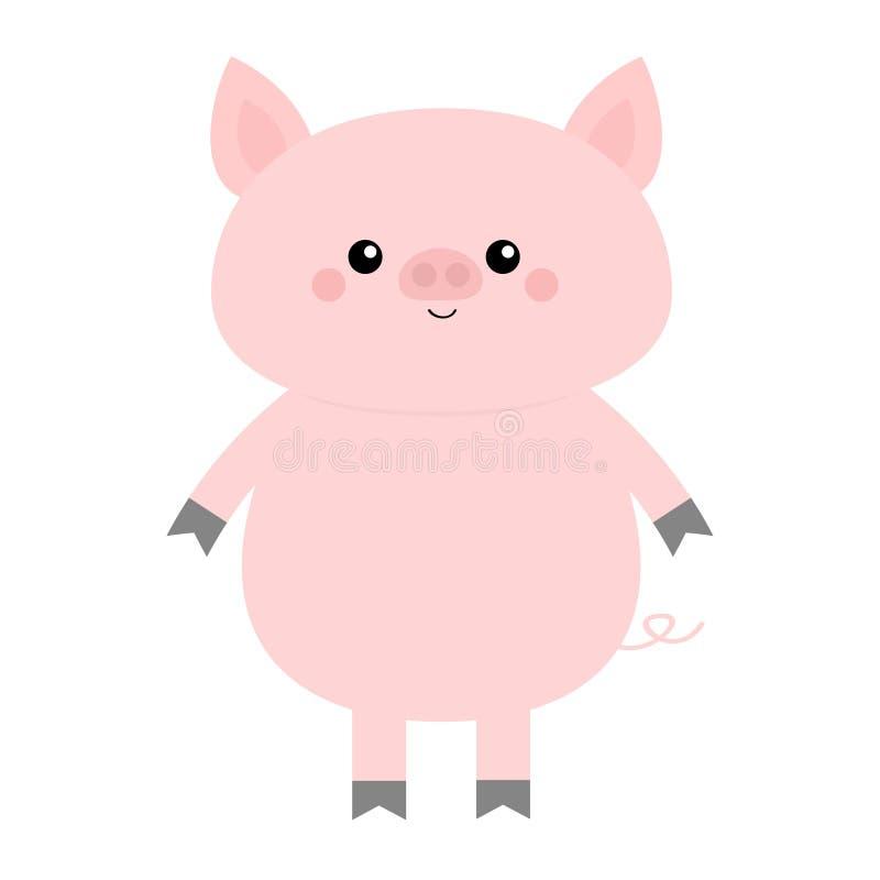 χοίρος Χαριτωμένος χαρακτήρας μωρών κινούμενων σχεδίων αστείος Ζώο θηλυκών χοίρων χοίρων γουρουνιών Σύμβολο Chinise του νέου έτου απεικόνιση αποθεμάτων