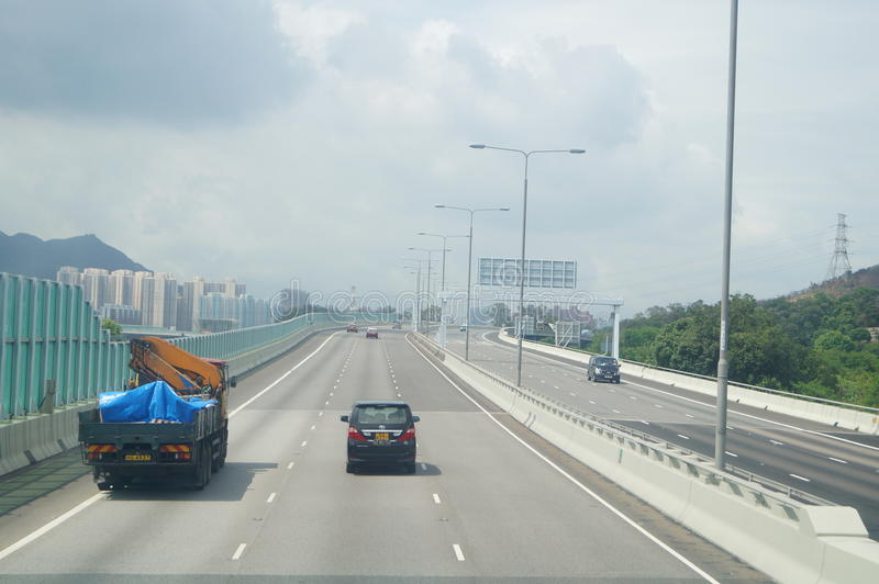 Χογκ Κογκ, Κίνα: Οδική κυκλοφορία στοκ φωτογραφίες με δικαίωμα ελεύθερης χρήσης
