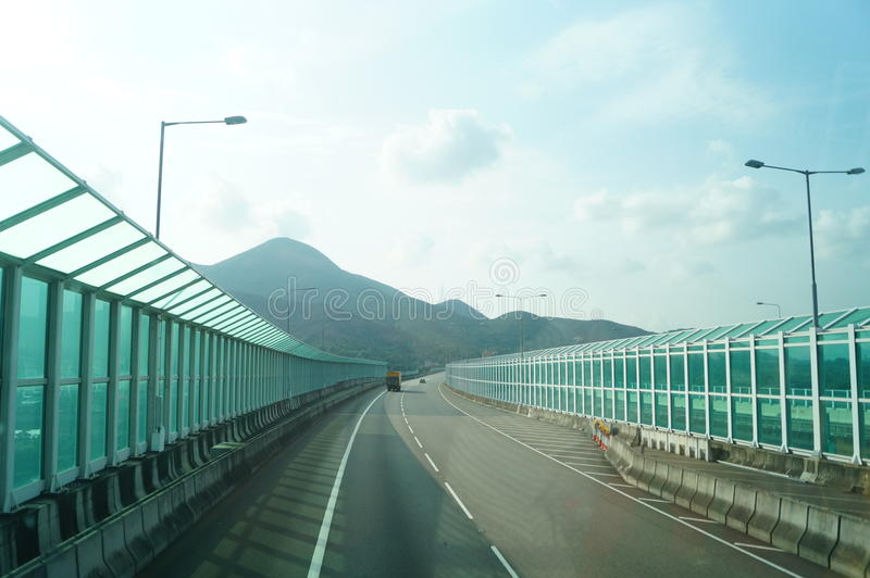 Χογκ Κογκ, Κίνα: Οδική κυκλοφορία στοκ φωτογραφία με δικαίωμα ελεύθερης χρήσης