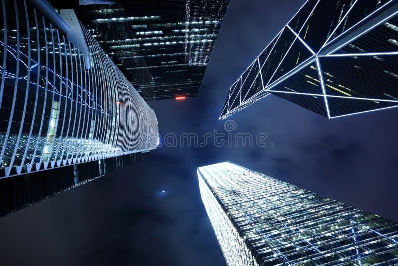 Download Χογκ Κογκ τη νύχτα στοκ εικόνες. εικόνα από μαύρα, σχέδιο - 13189670