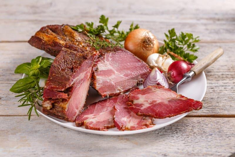 χοιρινό κρέας οσφυϊκών χωρώ&n στοκ φωτογραφίες
