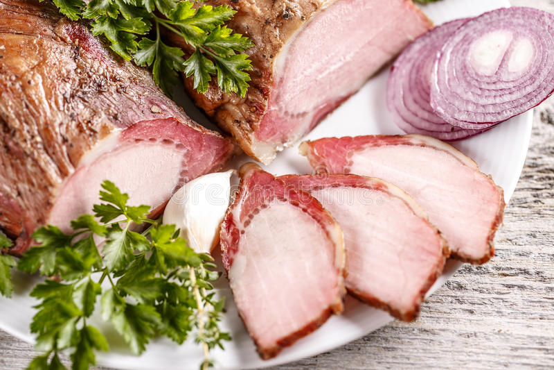 χοιρινό κρέας οσφυϊκών χωρώ&n στοκ εικόνα